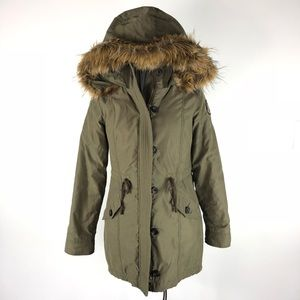 Abercrombie & Fitch Military Parka Jacket Coat